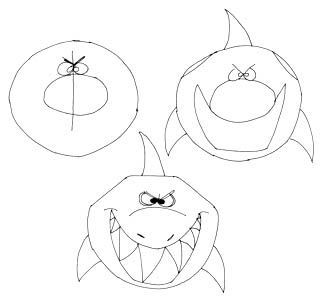 Comictier Zeichnen Lernen Hai Bild Malen