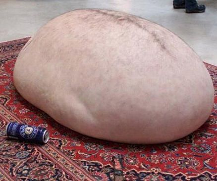 Creepy Modern Art   Beer Belly Body Part Art   WTF Gross Stomach On A Rug       Best Hilarious Jokes Funny Pictures Walmart Humor Fail