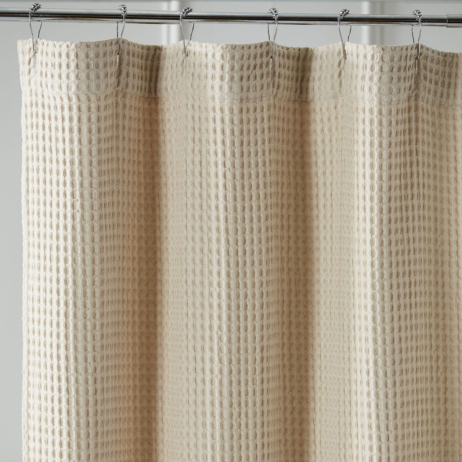 Waffle Linen Shower Curtain Waffle Weave Shower Curtain Shower