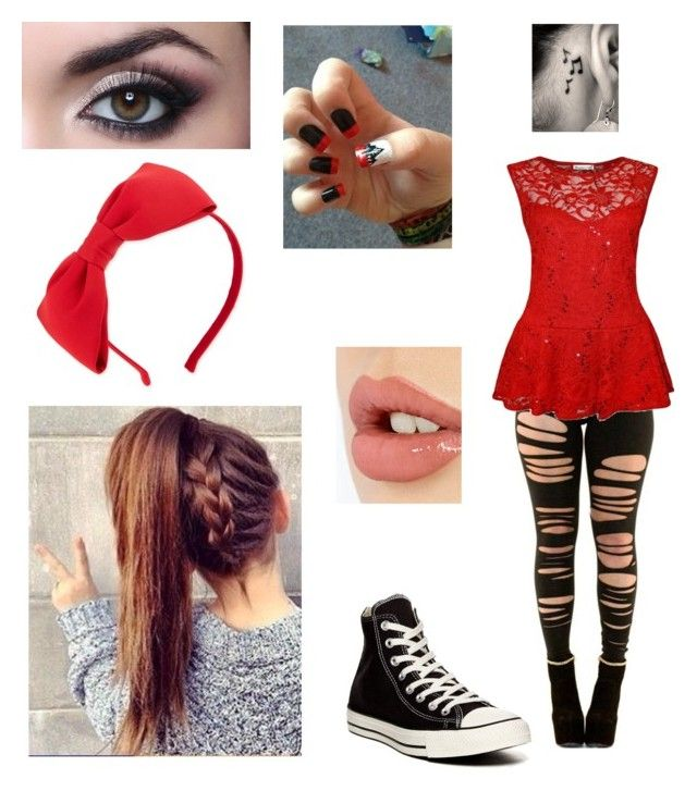 """""""bored"""" by haileym5sos ❤ liked on Polyvore featuring Kate Spade, Converse, Music Notes and Charlotte Tilbury"""