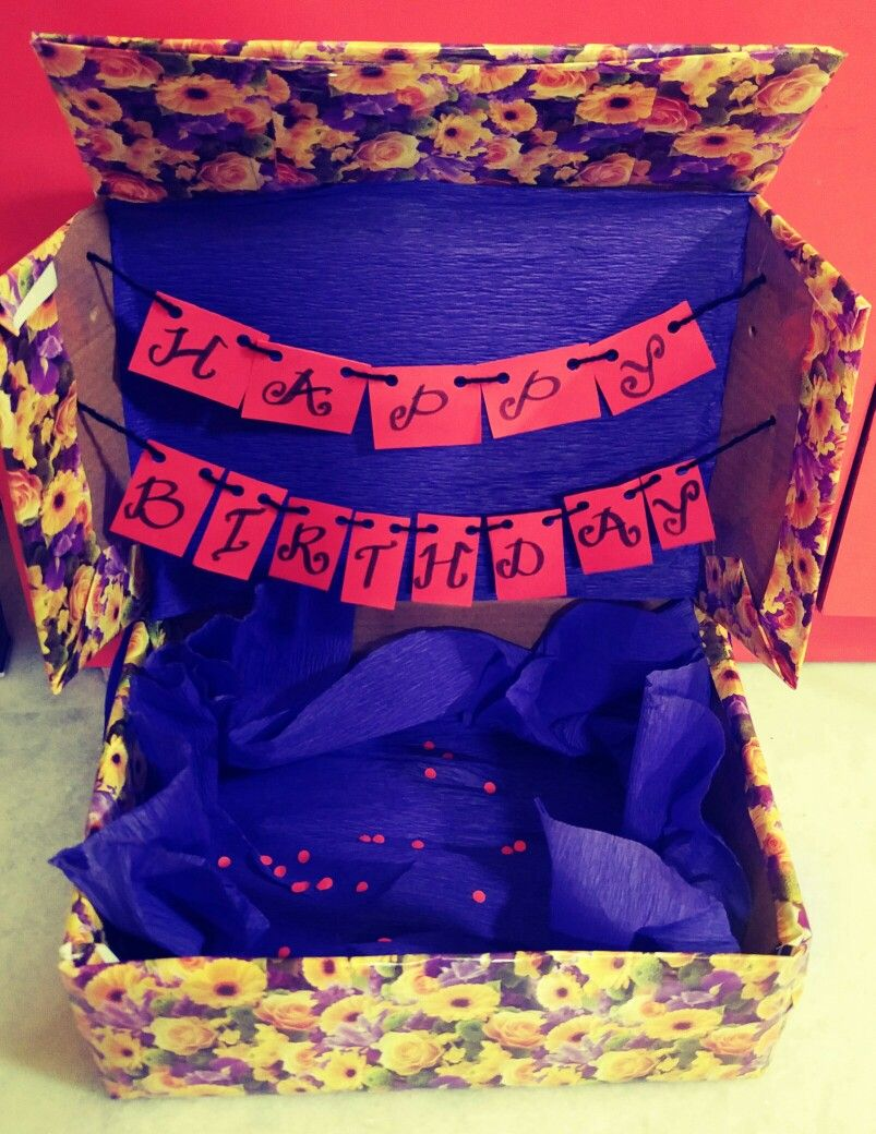 Made This Birthday Box For My Boyfriends 20th To Put All His Gifts In Perfect Long Distance Presents