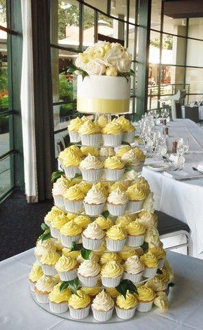 Yellow Wedding Cupcakes Yellow Wedding Cupcake Tower Wedding