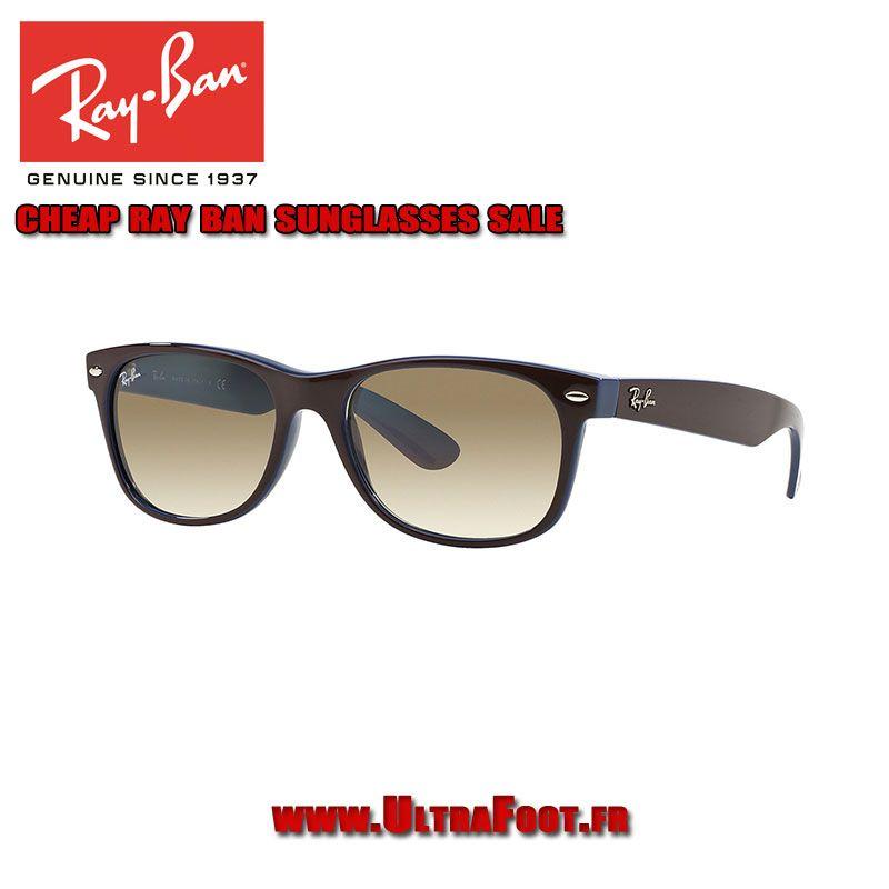 320b094f265398 Pas cher Ray-Ban Wayfarer New PENTE Lunettes de soleil RB2132 52 Brown  Brown Gradient