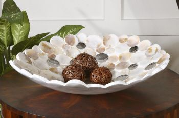 Capiz Shell Accented Bowl- 1 in stock