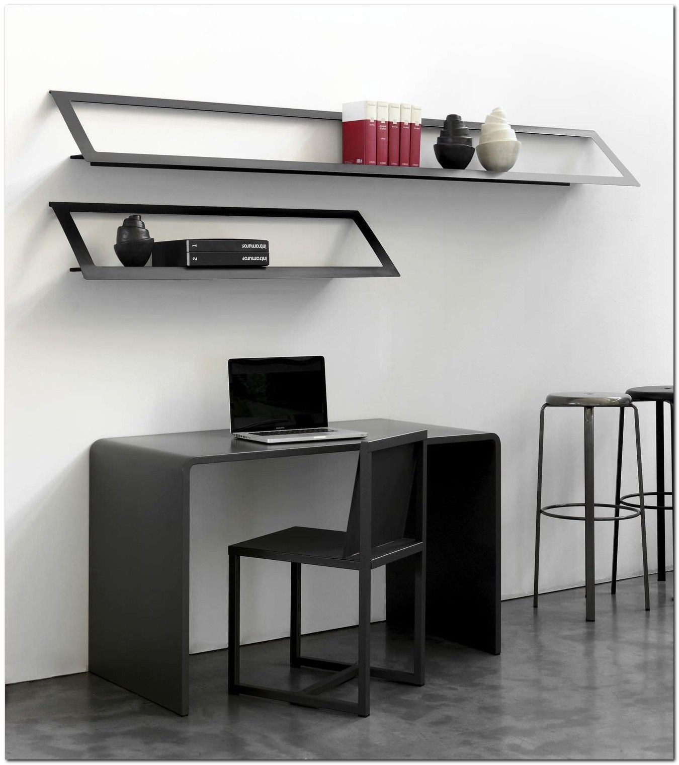 100 Modern Wall Mounted Desk Ideas The Urban Interior Shelves Wall Mounted Desk Wall Shelves