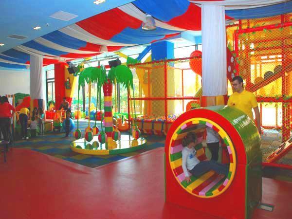 Cheerful indoor children playground interior design.open play ...