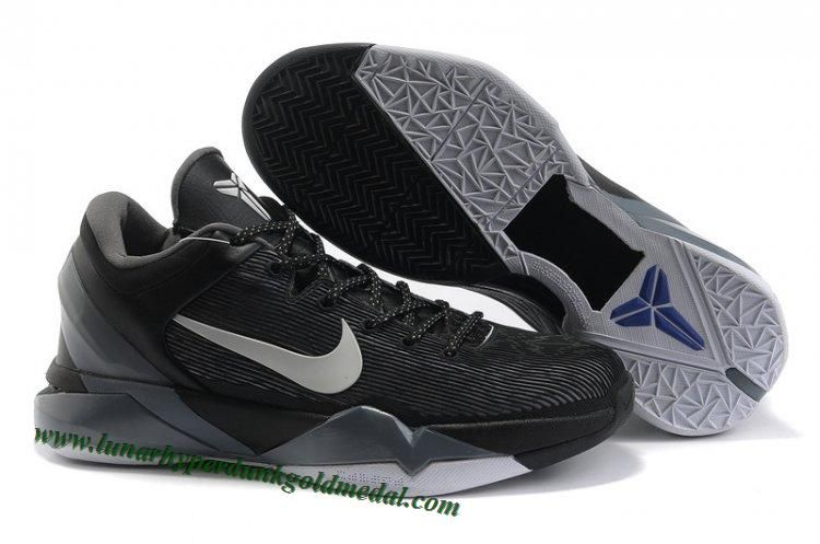 4d0b250c9376 Hot Nike Zoom Kobe 7(VII) NBA Shoes Black Wolf Grey