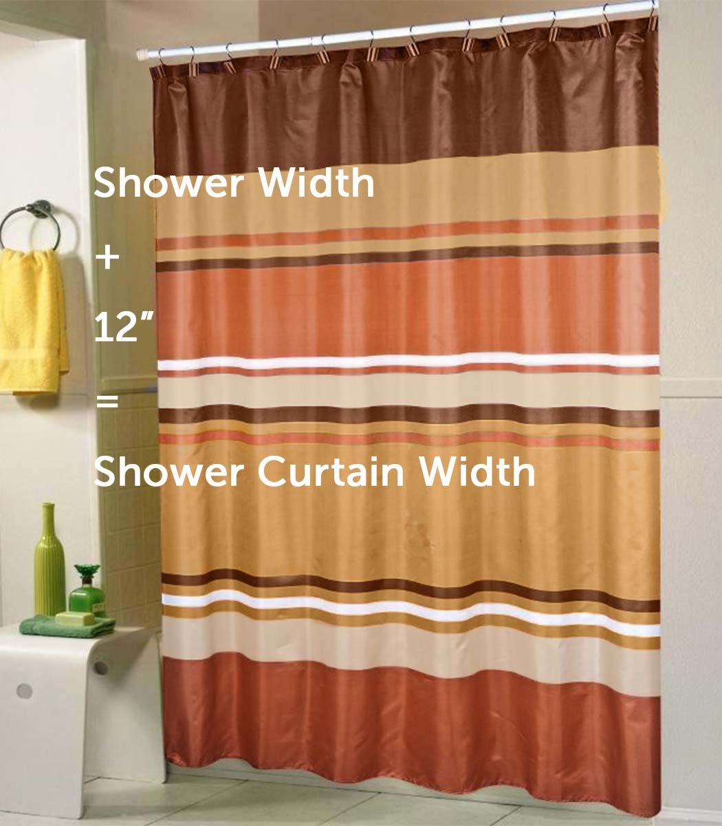 A Standard Shower Curtain Size Guide Shower Curtain Sizes