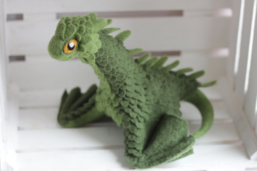 Felt Dragons By Russian Artist Alena Bobrova #feltdragon