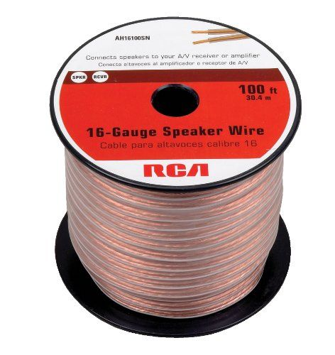 KnuKonceptz Bassik Home Theater Speaker Wire 16 Gauge Audio Cable 100/'