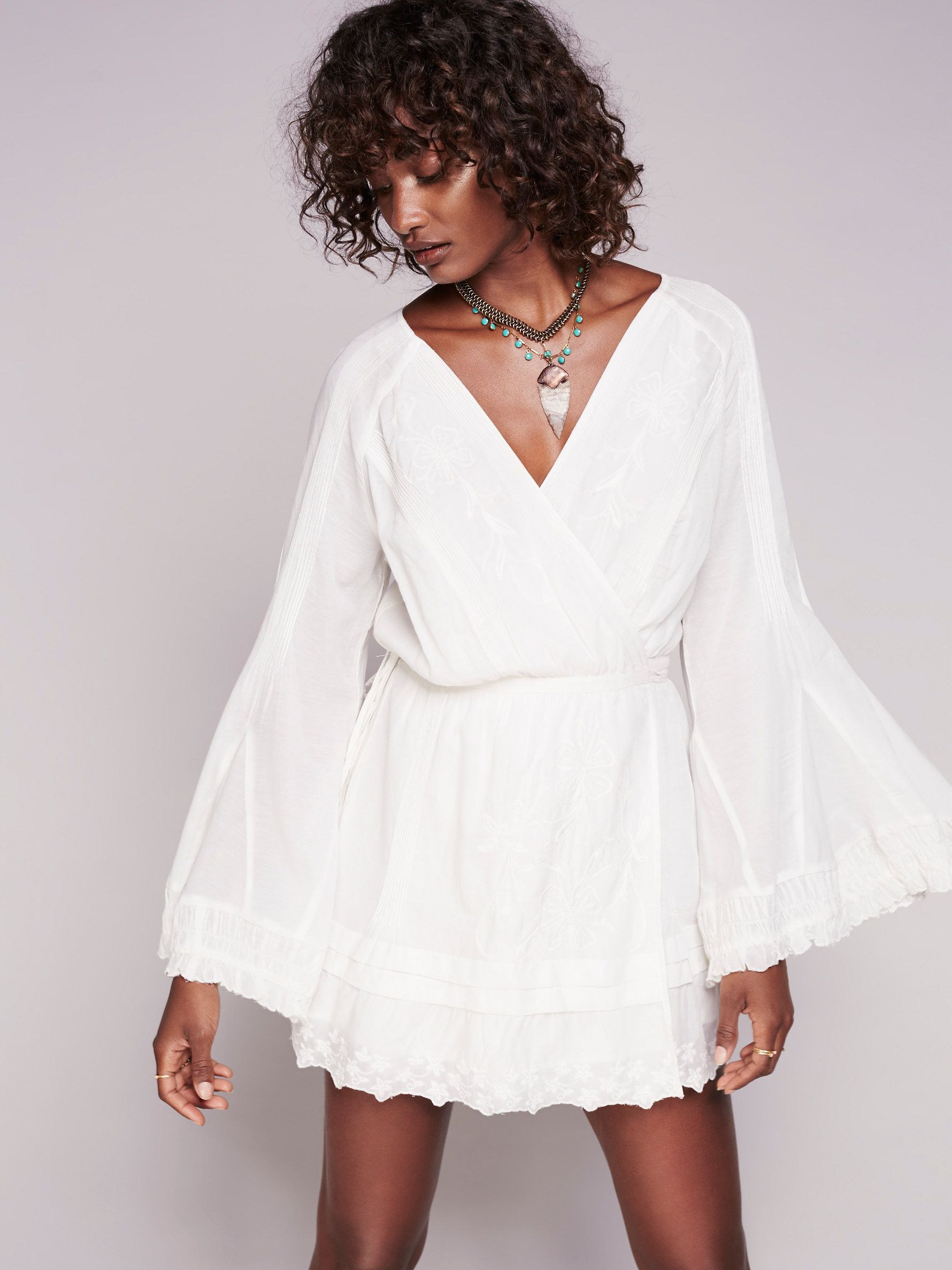 Free people thatus my desire dress best easy wrap ruffle trim and