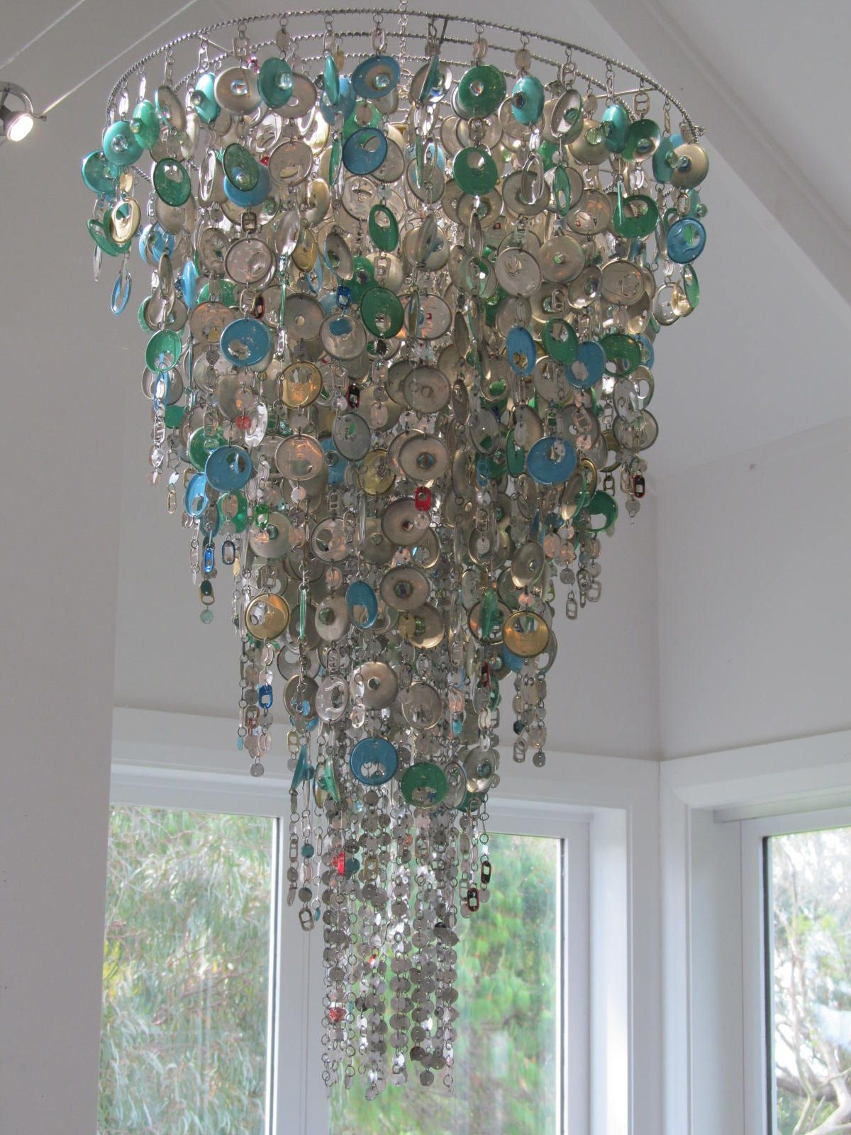 Kaye diraus wonderful hand crafted chandeliers made from recycled kaye diraus wonderful hand crafted chandeliers made from recycled tin cans and ready to hang and arubaitofo Images