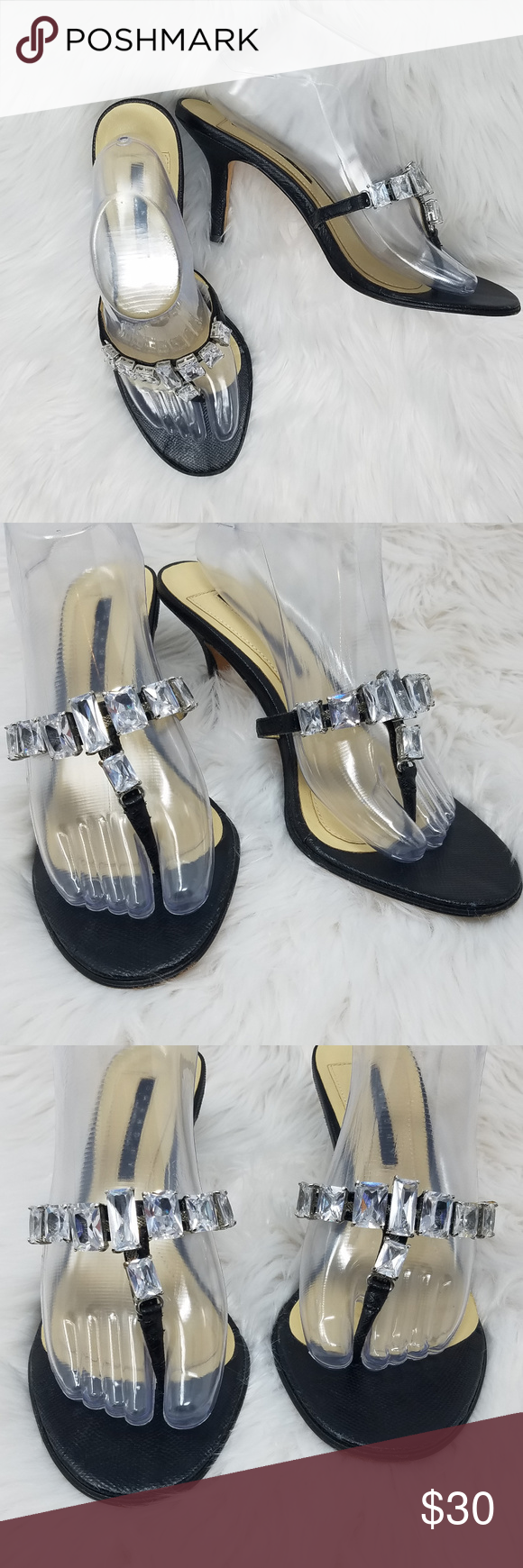 647de7b4e8b Laundry High Heel Sandals Bling 9M Thong Stiletto Heel Sandals. Very good  condition. Heel 3 inches Laundry By Shelli Segal Shoes Sandals