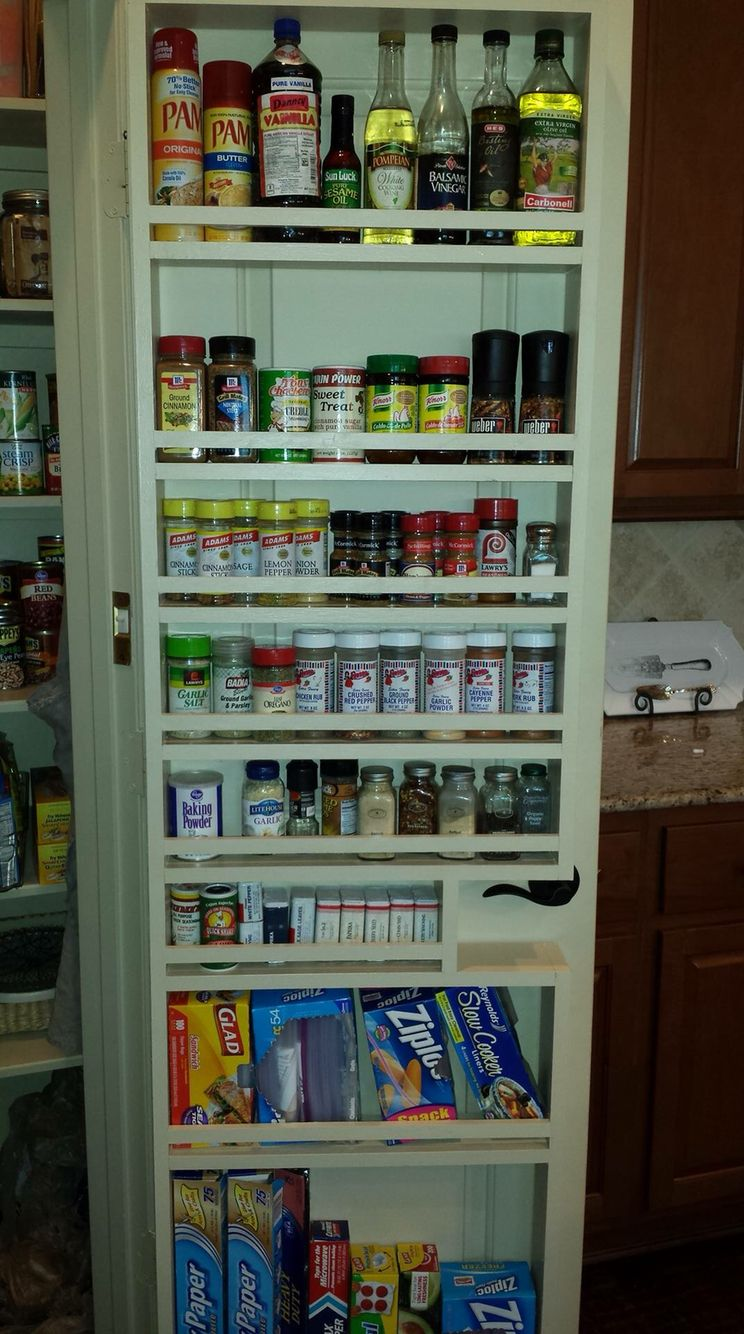 Pantry Door Spice Rack & Just Square Enough - door hanging storage rack - with instructions ...