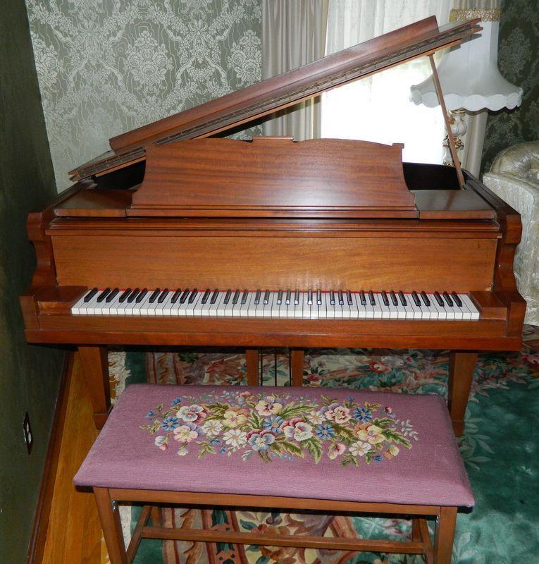 Emerson Grand Piano. Manufactured by Emerson Piano Co. Boston Ma ...