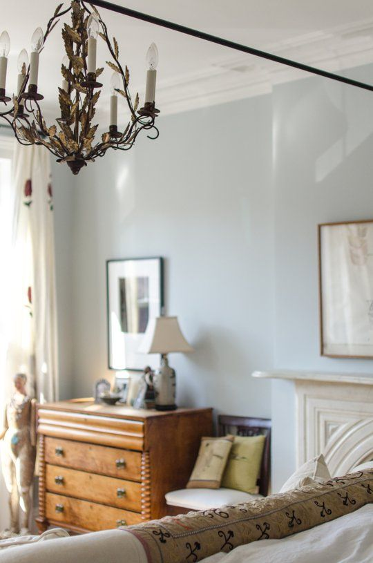 light blue wall paint in the master soothing  blue walls