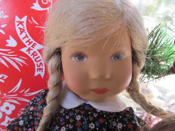 Blonde Hair Blue Eyes Kathe Kruse German Doll Vinyl Doll 80s Eva
