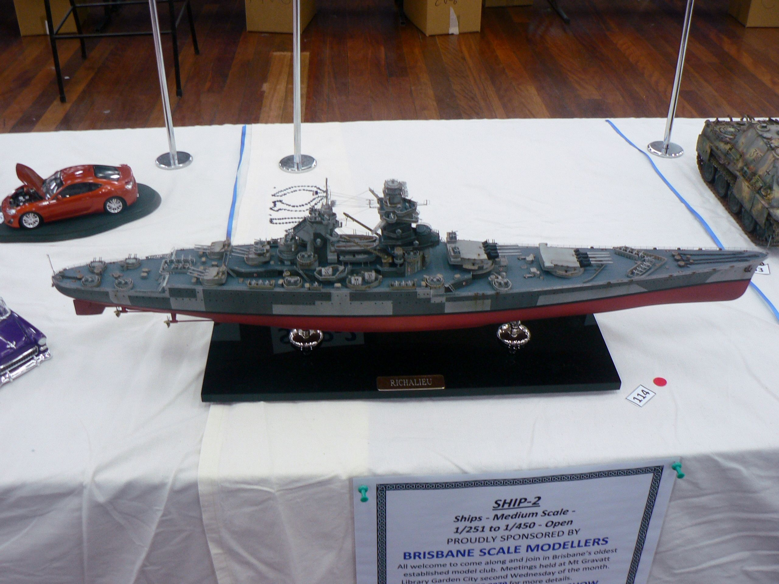 Richelieu 1 350 Scale Brisbane 2013 Qm He Show Model Warships