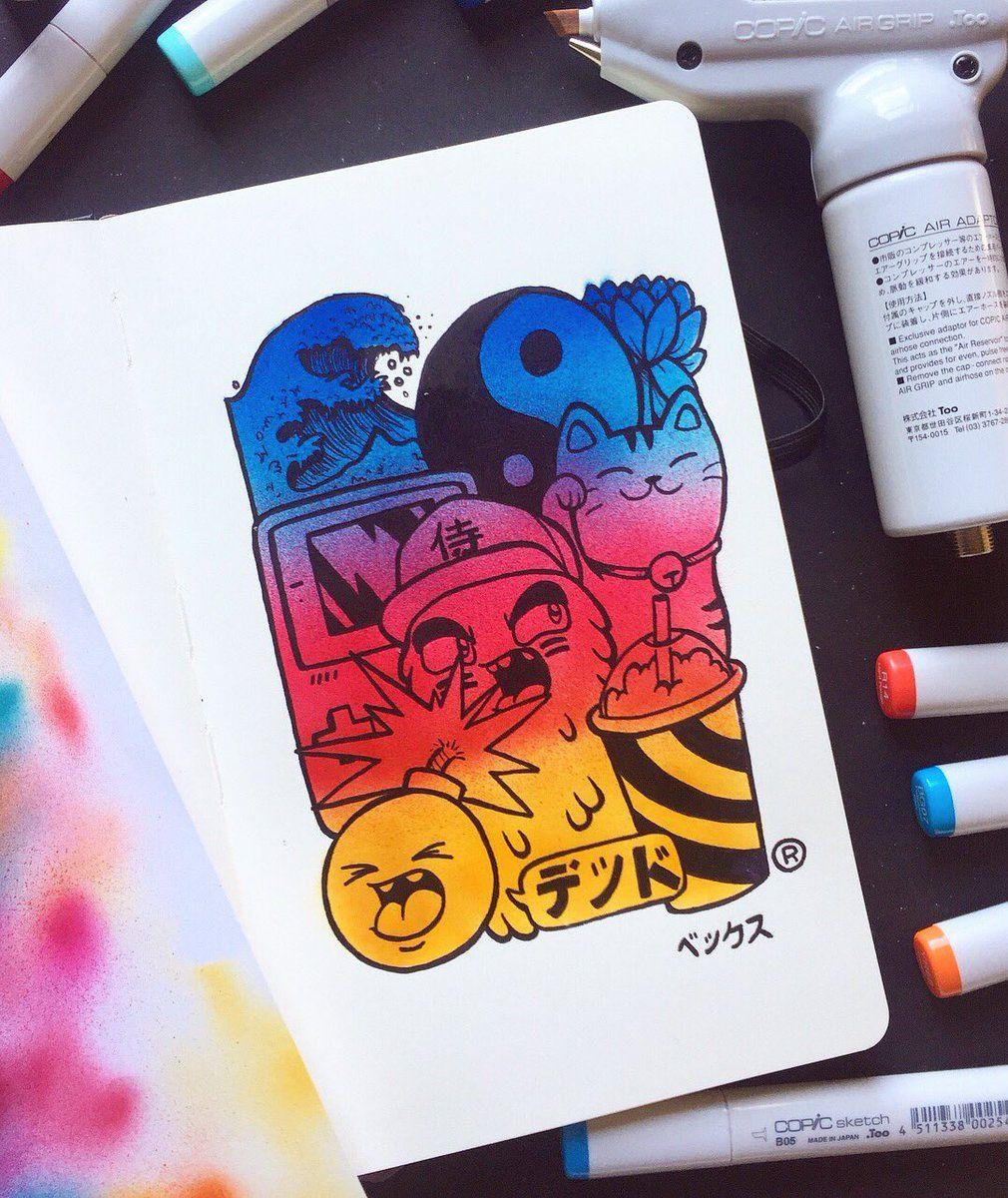 Vexx Instagram Doodle Drawing