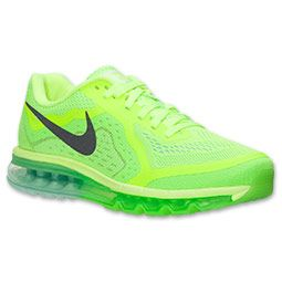 Men's Nike Air Max 2014 Running Shoes | Finish Line | Volt/Black/Medium