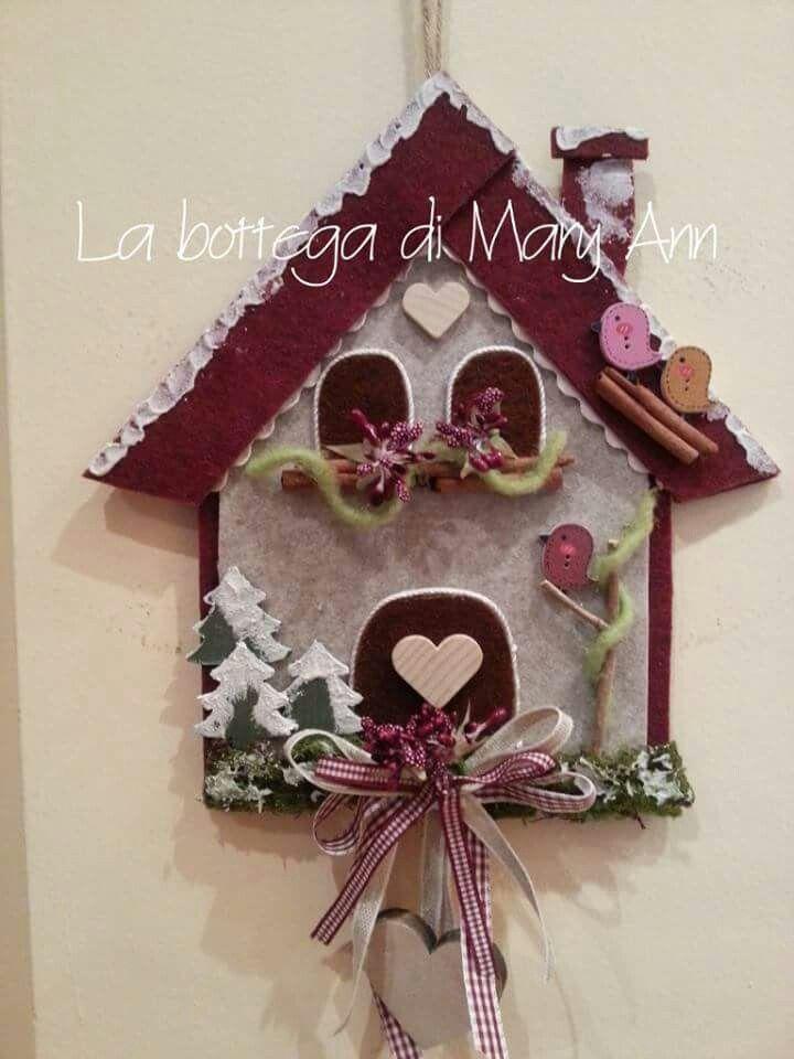 Troppo carina feltro di natale ornamento di natale e for Ornamenti casa