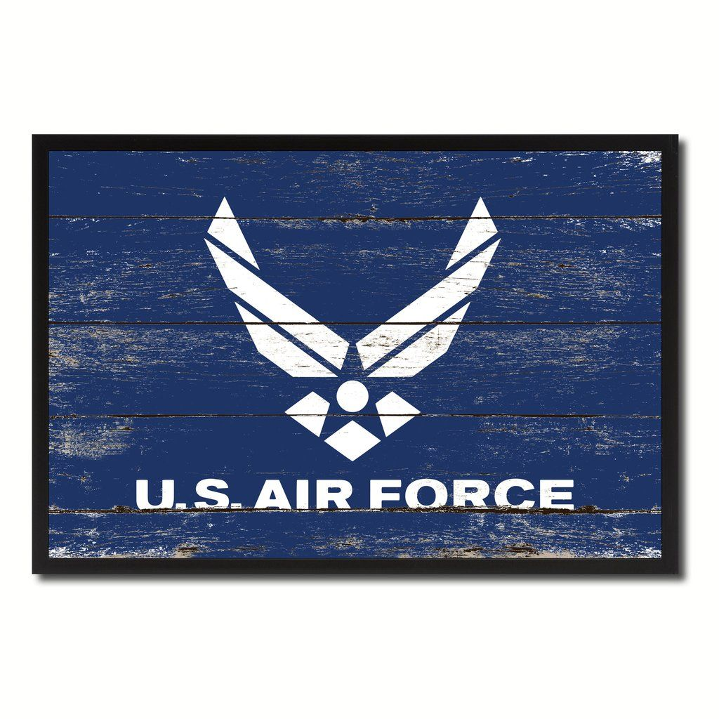 Us Air Force Military Flag Canvas Print Picture Frame Home Decor
