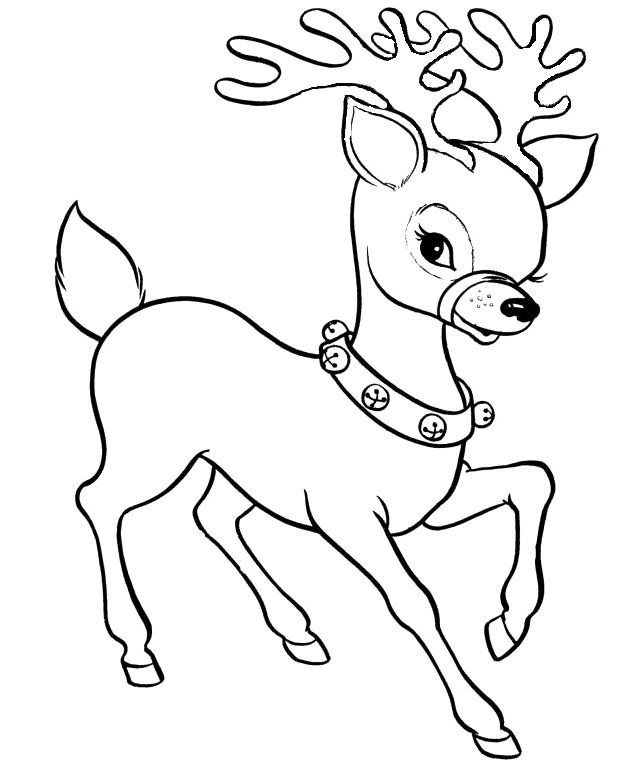 Christmas Coloring Pages Deer on a budget