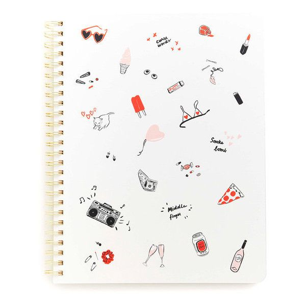 rough draft mini notebook girls just wanna have fun (€9,49) ❤ liked on Polyvore featuring fillers, other and notebook