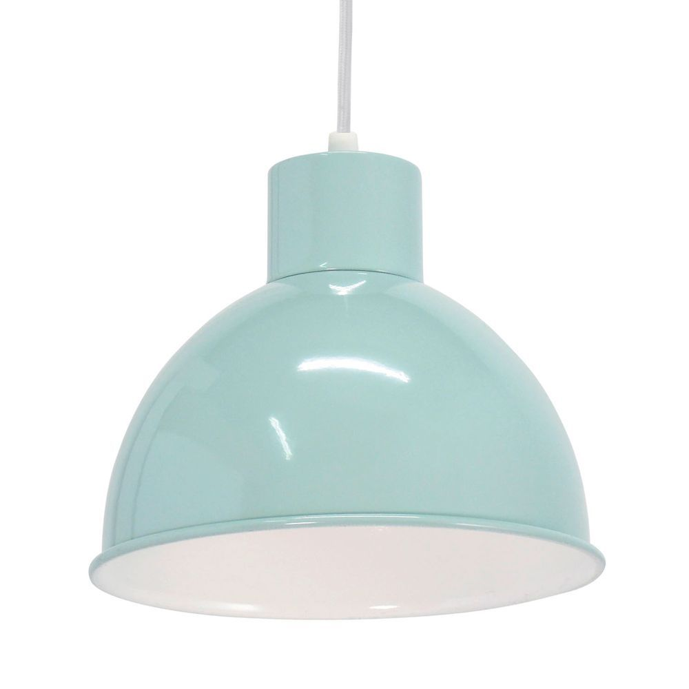 Vintage Mint Coloured Globe Pendant Light, the shade has a White ...