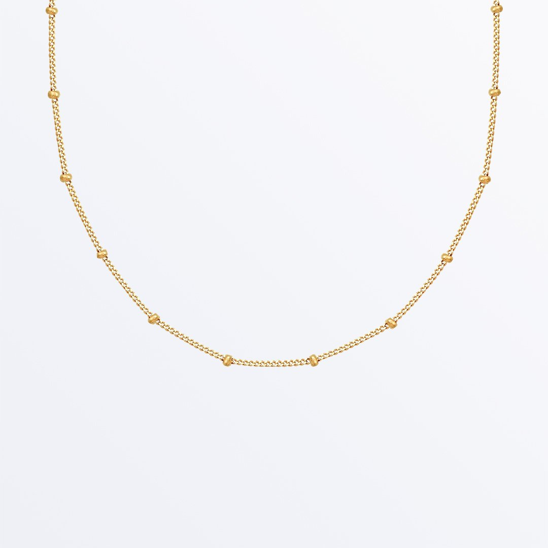 Small Ball Chain Necklace Ana Gold In 2020 Small Gold Chain