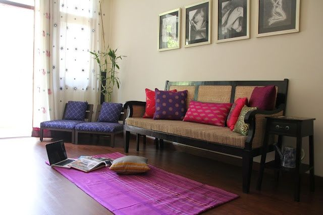 Colorful Indian Homes Interiors, Indian living rooms and India decor