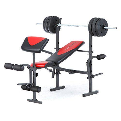 Weider Weider Pro 256 Weight Bench Combo Set Black Steel Weider