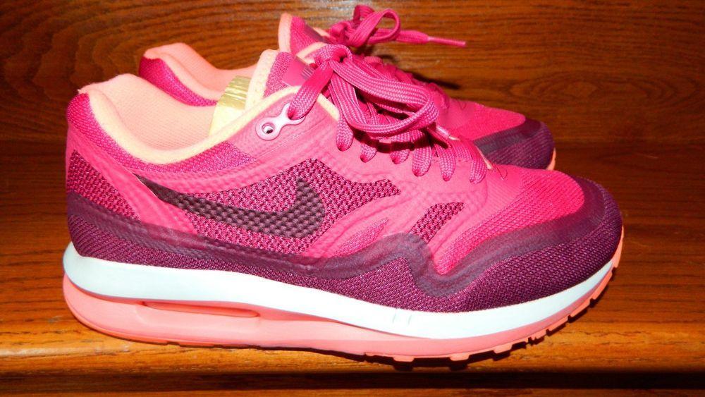 cb30995b108e Nike Air Max LUNAR1 654937-600 Women 6.5 Size 6   1 2 Fuchsia Force ...