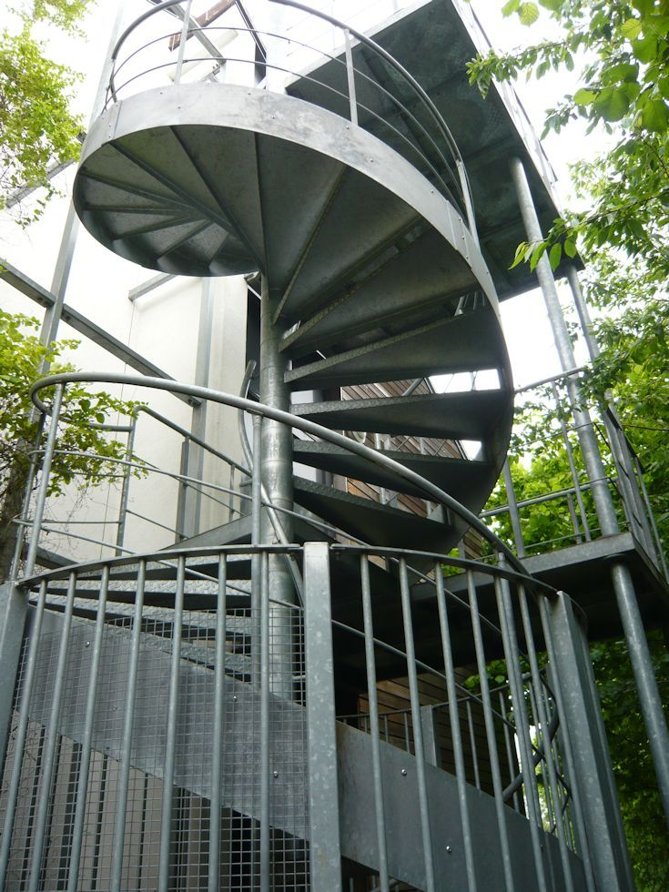 Best External Access Spiral Staircase With Feature Steel 640 x 480