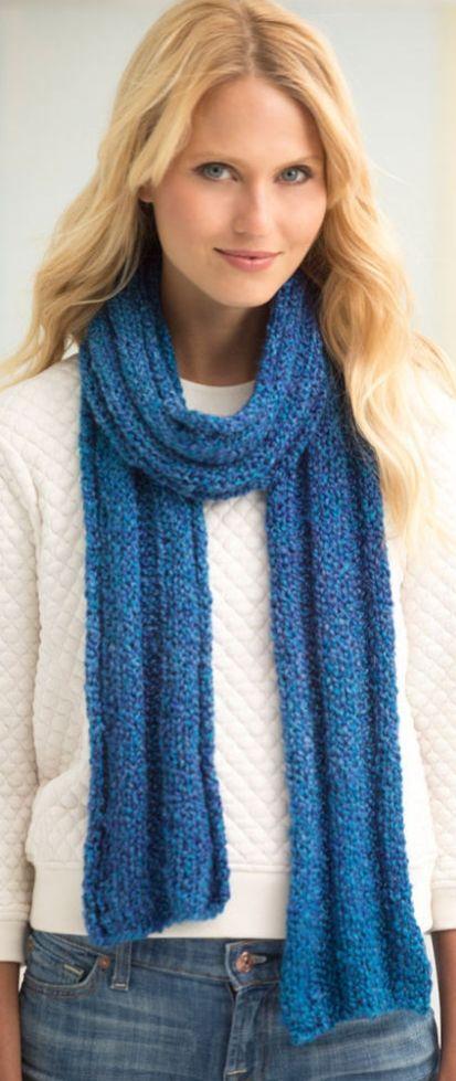 Lion Brand® Homespun® Yarn   Beginner knit scarf, Knitting ...
