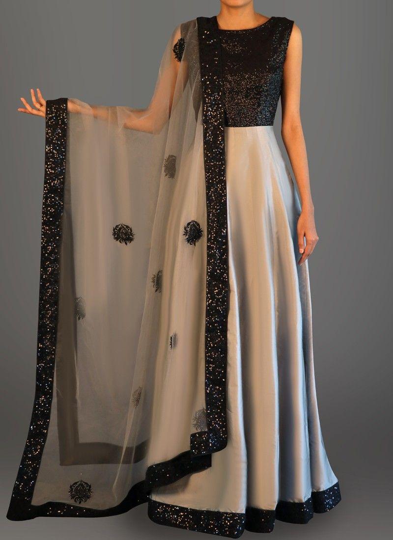 634405f9a Features a sequins bust alongside a taffeta silk flare, santoon inner and  bottom alongside an embroidered net dupatta.