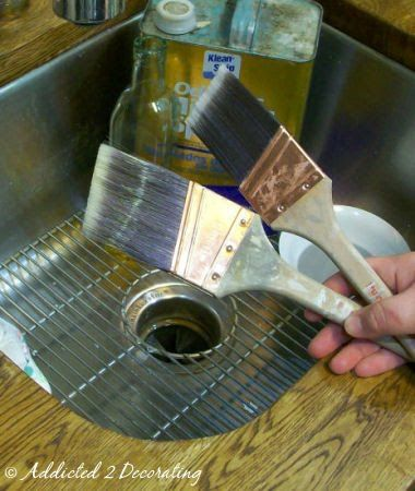 How To Clean Oil Based Paint Out Of A Brush Cleaning Paint Brushes Cleaning Wood Cleaning