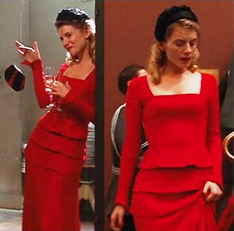 shosanna dreyfus melanie laurent red dress in