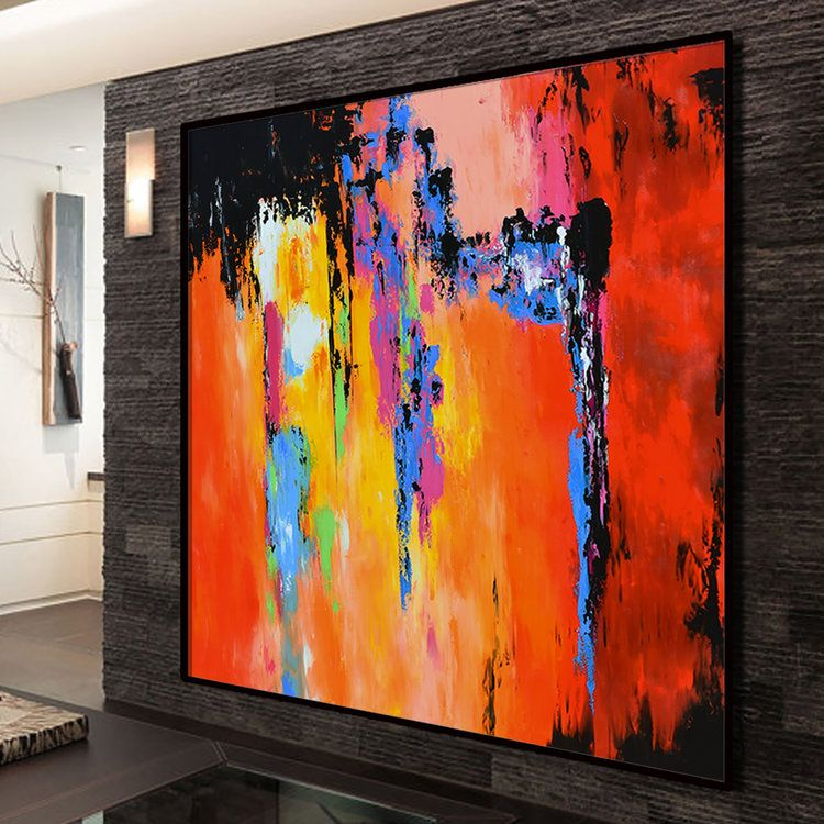 72x72 Large Abstract Painting Handmade Acrylic Painting Abstract