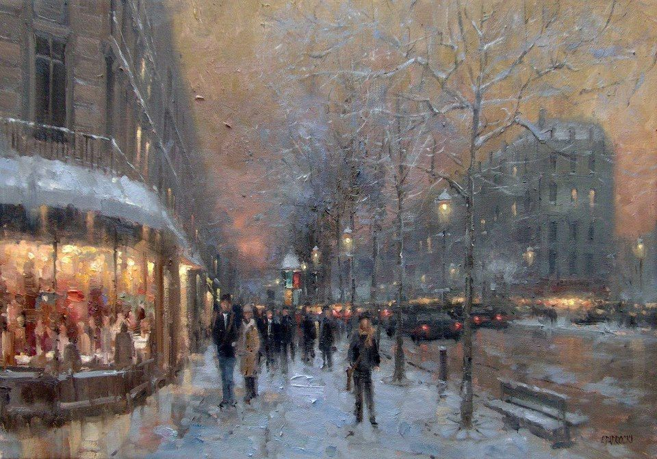 Eugene J. Paprocki (1971 Chicago), Winter Evening, St. Germain, Paris (sd)
