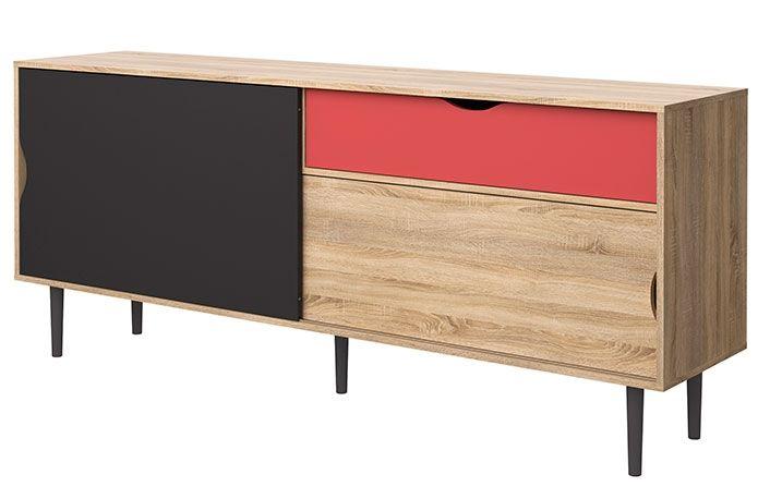 Compra ya este mueble tv vintage con puertas correderas en for Los muebles mas baratos