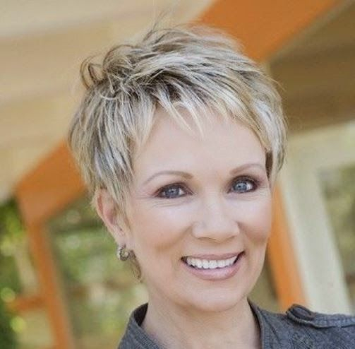 Short Haircuts For Women Over 60 With Thin Hair | pixie haircuts ...