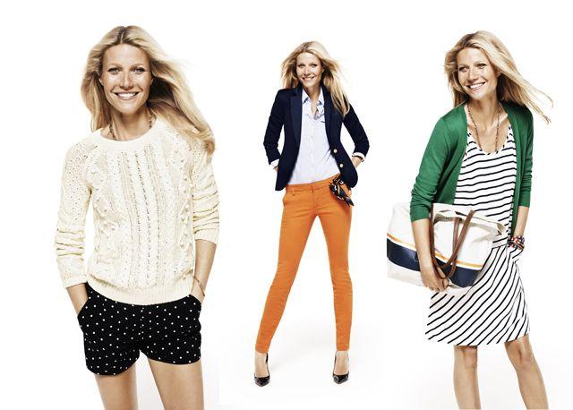 Fashion Foie Gras: Gwyneth Paltrow models Modern Preppy for Lindex