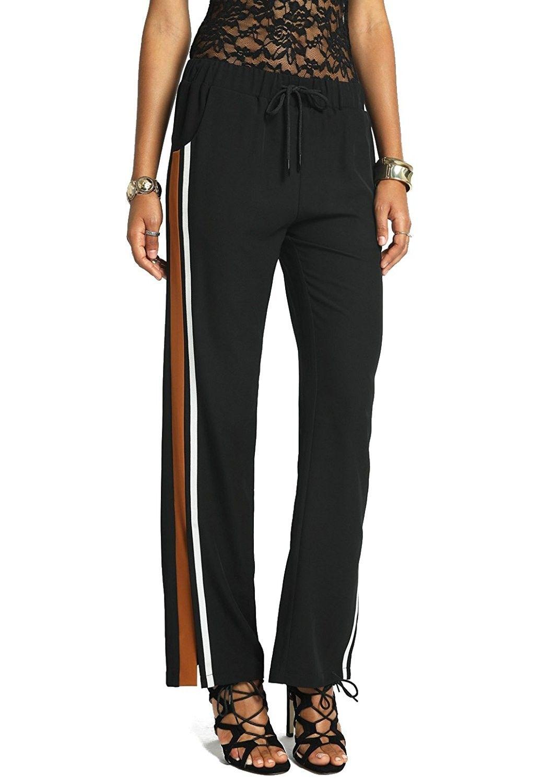 f5f985179a9d8 Women's Clothing, Active, Active Pants, Women's Bolt - Side Slit Tape  Striped Drawstring Elastic Waistband Pants - Rust Orange - C018665CGC3  #women #fashion ...