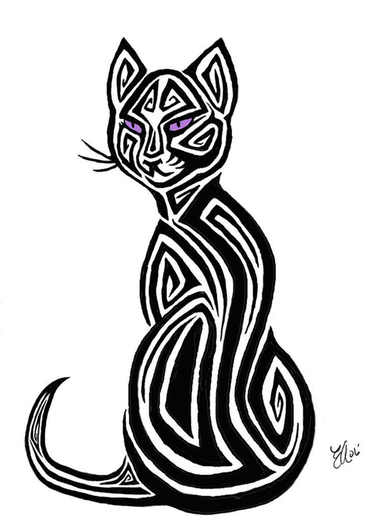 81563be0cc Tribal Cat Tattoo Design by ~AerynOustinne on deviantART | Regalia ...