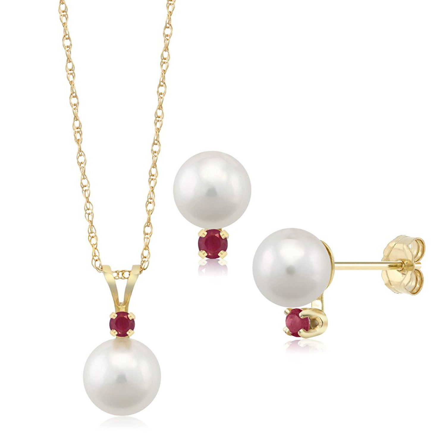 K yellow gold mm cultured akoya pearl pendant jewelryforsale