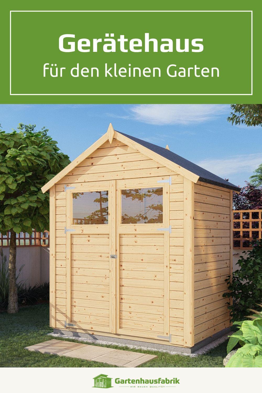 Gerateschuppen Fur Den Vorgarten Platzsparend Mit Grossen Turen Gartenhaus Selber Bauen Gartenhaus Schuppen Selber Bauen