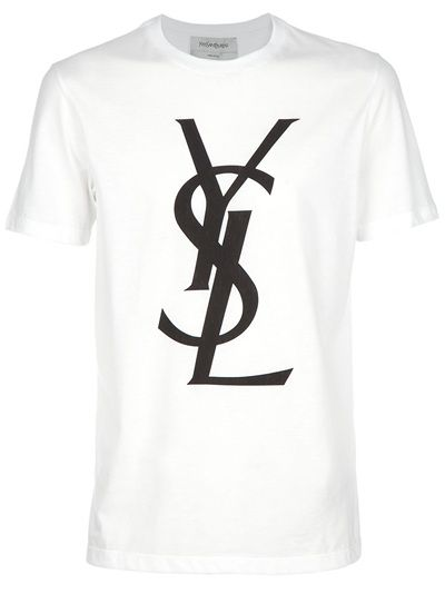 ce04281b3f8e White cotton T-shirt from Yves Saint Laurent featuring a crew neck ...