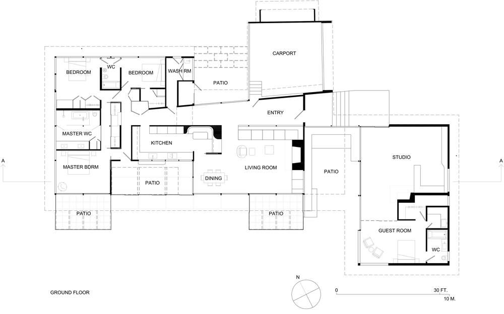 Architectural Photographer Julius Shulman And His House Studio Floor Plans Ranch Style House Plans Architectural Photographers