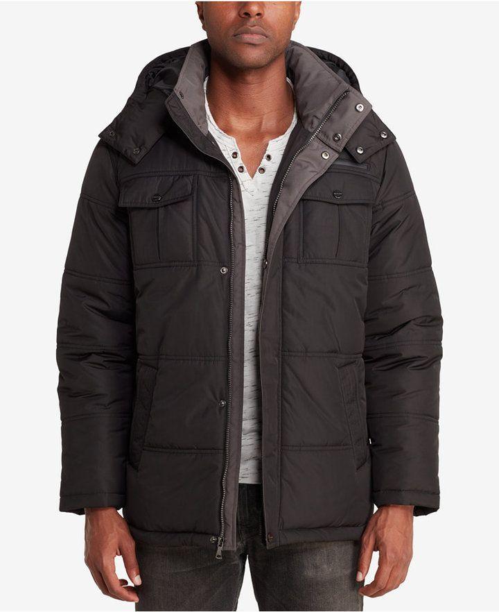 5253bd897e4f Sean John Men's Camo-Lined Parka - Black | Products | Men's coats ...